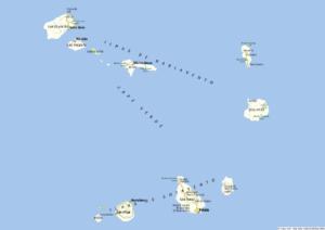 Landkarte Kapverden